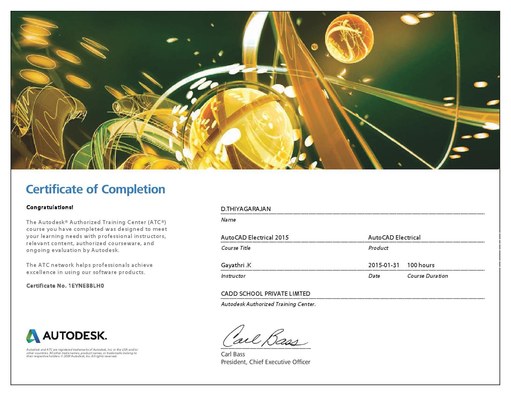 Cadd training center avadi best cadd training in avadi international certificates autodesk course completion xflitez Gallery