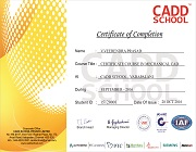 Mechanical CADD SCHOOL Certificate